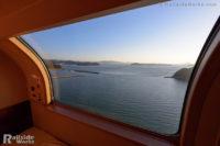 サンライズ瀬戸から眺める、朝の瀬戸内海