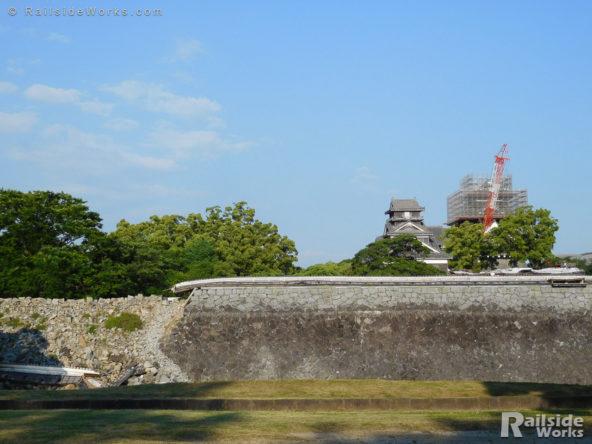 復旧の真っ只中の熊本城