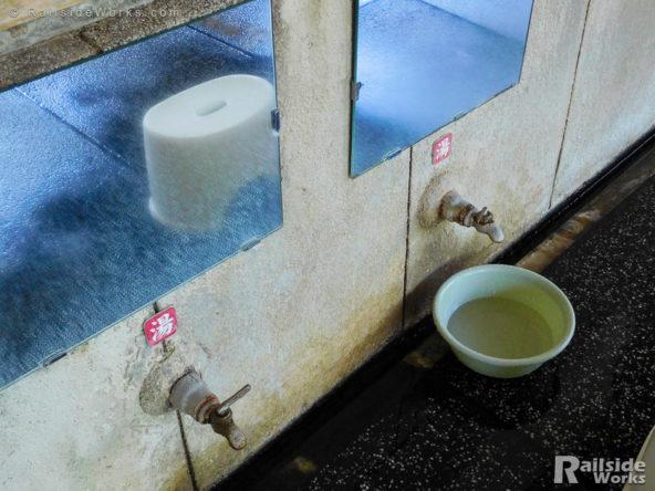 人吉温泉 元湯の蛇口