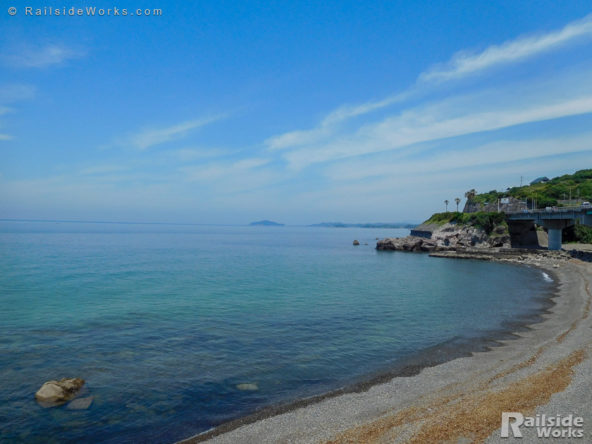 道の駅阿久根付近の浜