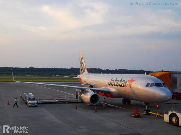 熊本空港にて、ジェットスターGK610便