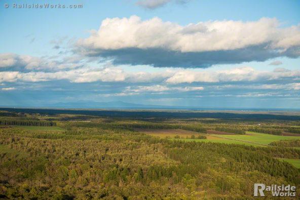開陽台から北を望む