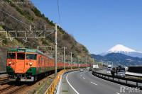 富士山と113系