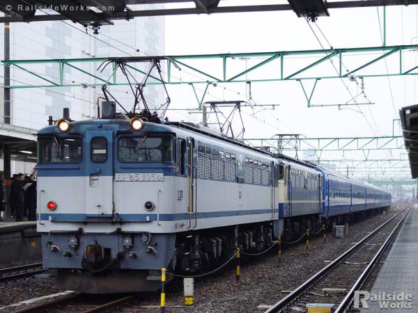 機関車故障により救援される102列車 急行「銀河」