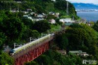 E001系「TRAIN SUITE 四季島」甲種輸送、白糸川橋梁にて